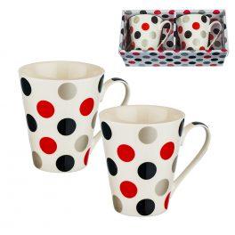 9310: Комплект 2 чаши за кафе/чай с точки