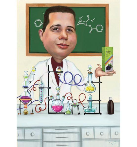 Карикатура за химик