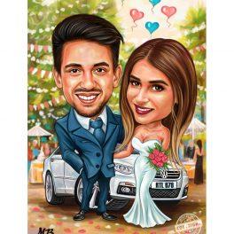 Карикатура за сватба