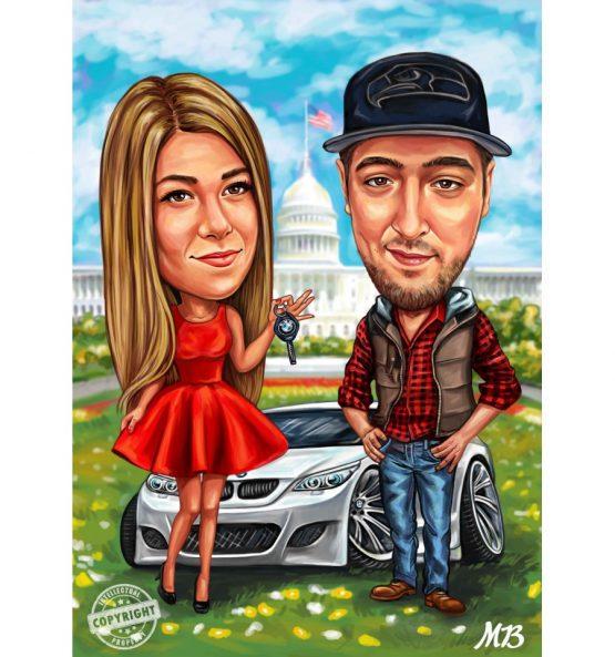 карикатура за двойка