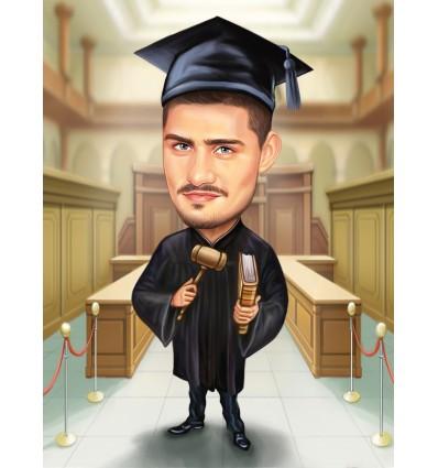 карикатура подарък за дипломиране