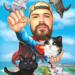 Шарж с котки